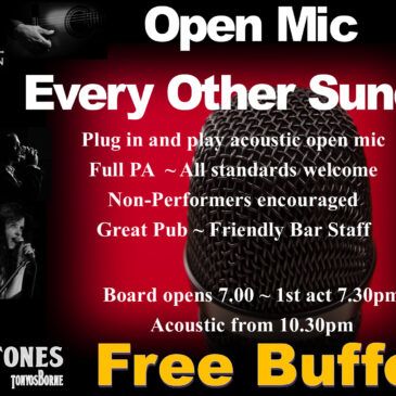 Open Mic Night Sunday 15th and 29th March