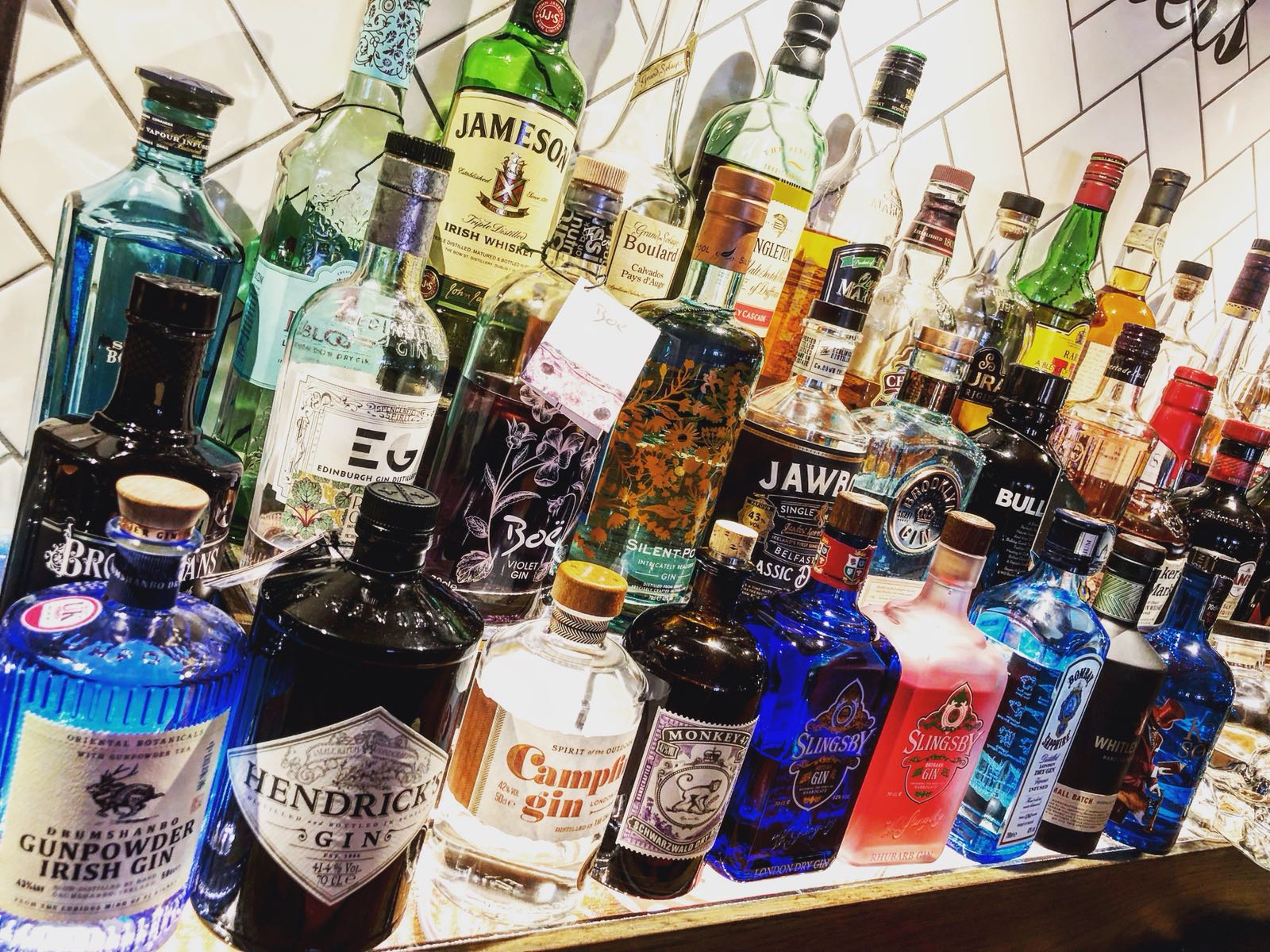 The Bell Bovingdon's fine selection of spirits