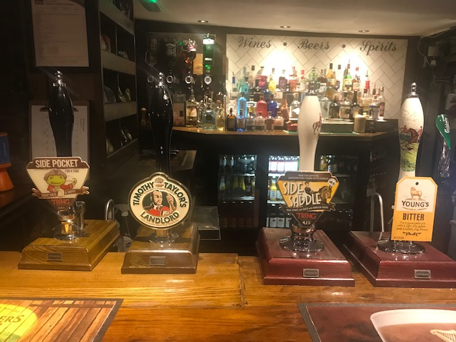 Real Ales available at the bar.