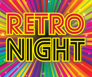 Retro Night, Three Course Meal,  Friday 25th October and 70s, 80s and 90s Disco